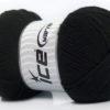 Lot of 4 x 100gr Skeins Ice Yarns SOFTLY BABY Hand Knitting Yarn Black