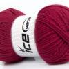Lot of 4 x 100gr Skeins Ice Yarns SOFTLY BABY Hand Knitting Yarn Burgundy