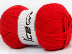 Lot of 4 x 100gr Skeins Ice Yarns SOFTLY BABY Hand Knitting Yarn Tomato Red
