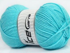 Lot of 4 x 100gr Skeins Ice Yarns SOFTLY BABY Yarn Light Turquoise