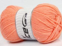 Lot of 4 x 100gr Skeins Ice Yarns SOFTLY BABY Hand Knitting Yarn Light Salmon