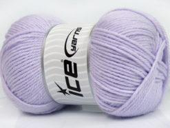 Lot of 4 x 100gr Skeins Ice Yarns SOFTLY BABY Hand Knitting Yarn Lilac