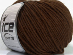 Lot of 6 Skeins Ice Yarns SUPERWASH MERINO Hand Knitting Yarn Dark Brown