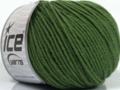Lot of 6 Skeins Ice Yarns SUPERWASH MERINO Hand Knitting Yarn Green