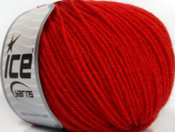 Lot of 6 Skeins Ice Yarns SUPERWASH MERINO Hand Knitting Yarn Tomato Red