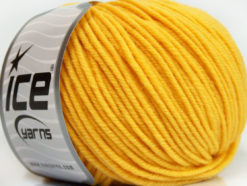 Lot of 6 Skeins Ice Yarns SUPERWASH MERINO Hand Knitting Yarn Yellow