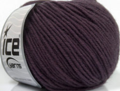 Lot of 6 Skeins ICE SUPERWASH MERINO Hand Knitting Yarn Maroon