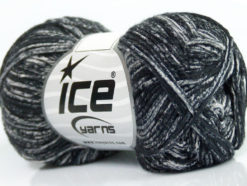Lot of 8 Skeins Ice Yarns JEANS (100% Cotton) Hand Knitting Yarn Black Grey