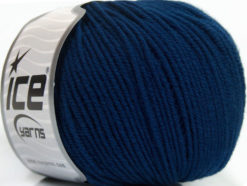 Lot of 4 Skeins Ice Yarns SUPERWASH MERINO EXTRAFINE (100% Superwash Extrafine Merino Wool) Yarn Dark Blue