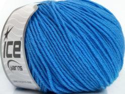 Lot of 4 Skeins Ice Yarns SUPERWASH MERINO EXTRAFINE (100% Superwash Extrafine Merino Wool) Yarn Indigo Blue