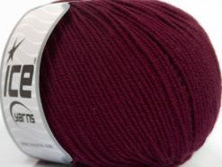 Lot of 4 Skeins Ice Yarns SUPERWASH MERINO EXTRAFINE (100% Superwash Extrafine Merino Wool) Yarn Dark Burgundy