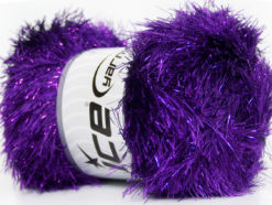 Lot of 4 x 100gr Skeins Ice Yarns EYELASH DAZZLE Hand Knitting Yarn Purple