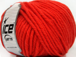 Lot of 3 x 100gr Skeins Ice Yarns SUPERWASH WOOL BULKY (100% Superwash Wool) Yarn Tomato Red