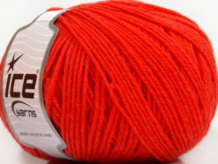 Lot of 3 x 100gr Skeins Ice Yarns SUPERWASH WOOL Hand Knitting Yarn Tomato Red