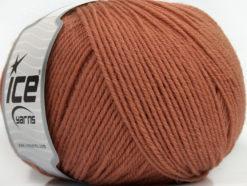 Lot of 3 x 100gr Skeins Ice Yarns SUPERWASH WOOL (100% Superwash Wool) Yarn Light Copper