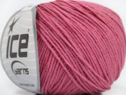 Lot of 8 Skeins Ice Yarns ALARA (50% Cotton) Hand Knitting Yarn Rose Pink