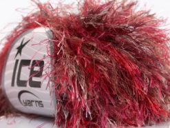 Lot of 8 Skeins Ice Yarns LONG EYELASH COLORFUL Yarn Purple Red Brown White