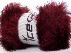 Lot of 4 x 100gr Skeins Ice Yarns EYELASH 100GR Hand Knitting Yarn Red Black
