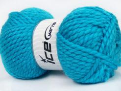 Lot of 2 x 150gr Skeins Ice Yarns SuperBulky ALPINE (45% Wool) Yarn Turquoise
