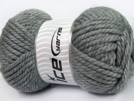 250 gr ICE YARNS ALPINE XL (45% Wool) Hand Knitting Yarn Grey