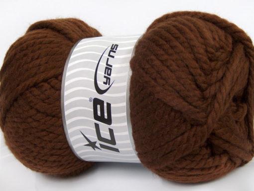 250 gr ICE YARNS ALPINE XL (45% Wool) Hand Knitting Yarn Brown
