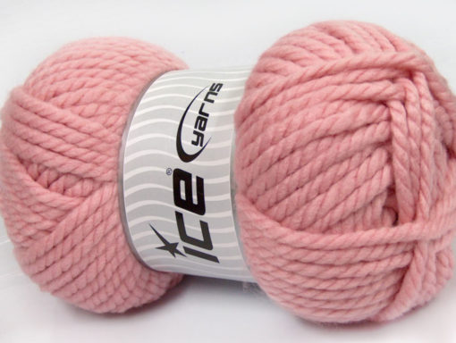 250 gr ICE YARNS ALPINE XL (45% Wool) Hand Knitting Yarn Light Pink