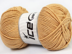 Lot of 4 x 100gr Skeins Ice Yarns LORENA WORSTED (55% Cotton) Yarn Cafe Latte