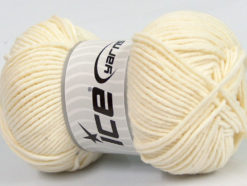 Lot of 4 x 100gr Skeins Ice Yarns LORENA WORSTED (55% Cotton) Yarn Cream