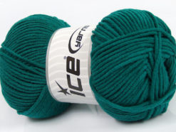 Lot of 4 x 100gr Skeins Ice Yarns LORENA WORSTED (55% Cotton) Yarn Teal
