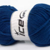Lot of 4 x 100gr Skeins Ice Yarns LORENA WORSTED (55% Cotton) Yarn Dark Blue