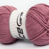 Lot of 4 x 100gr Skeins Ice Yarns LORENA WORSTED (55% Cotton) Yarn Rose Pink