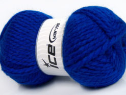 Lot of 2 x 150gr Skeins Ice Yarns SuperBulky ALPINE ALPACA (30% Alpaca 10% Wool) Yarn Royal Blue
