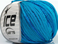 Lot of 6 Skeins Ice Yarns SUMMERTIME (79% Cotton 21% Viscose) Yarn Turquoise