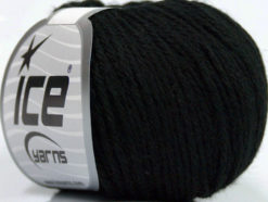 Lot of 6 Skeins Ice Yarns BABY MERINO DK (40% Merino Wool) Yarn Black