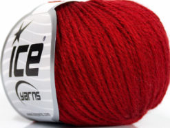 Lot of 6 Skeins Ice Yarns BABY MERINO DK (40% Merino Wool) Yarn Dark Red
