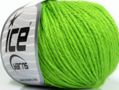 Lot of 6 Skeins Ice Yarns BABY MERINO DK (40% Merino Wool) Yarn Bright Green