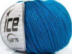 Lot of 6 Skeins Ice Yarns BABY MERINO DK (40% Merino Wool) Yarn Dark Turquoise