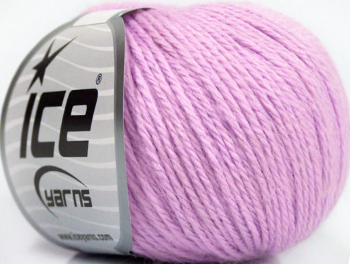 Lot of 6 Skeins Ice Yarns BABY MERINO DK (40% Merino Wool) Yarn Light Lilac