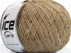 Lot of 8 Skeins Ice Yarns Tweed WOOL CORD FINE (30% Wool) Yarn Beige