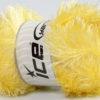 Lot of 4 x 100gr Skeins Ice Yarns EYELASH GLITZ Yarn Light Yellow
