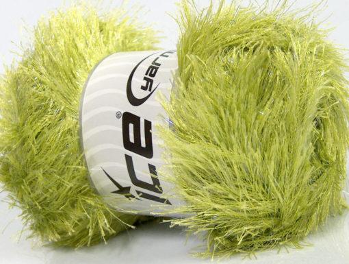 Lot of 4 x 100gr Skeins Ice Yarns EYELASH GLITZ Hand Knitting Yarn Green