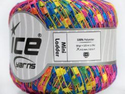Lot of 6 Skeins Ice Yarns Trellis MINI LADDER Yarn Pink Blue Yellow