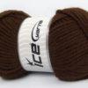 Lot of 4 x 100gr Skeins Ice Yarns ALPACA GOLD (25% Alpaca 25% Wool) Yarn Dark Brown