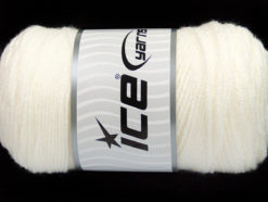 Lot of 2 x 200gr Skeins Ice Yarns SAVER Hand Knitting Yarn White