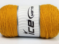 Lot of 2 x 200gr Skeins Ice Yarns SAVER Hand Knitting Yarn Gold