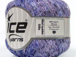 Lot of 6 Skeins Ice Yarns Trellis MINI LADDER GLITZ Yarn Lilac Shades