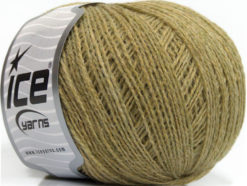 Lot of 8 Skeins Ice Yarns WOOL FINE 30 (30% Wool) Yarn Khaki Melange