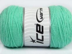 Lot of 2 x 200gr Skeins Ice Yarns SAVER Hand Knitting Yarn Mint Green