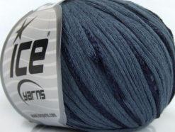 Lot of 6 Skeins Ice Yarns SUMMERTIME (79% Cotton 21% Viscose) Yarn Dark SlateGrey
