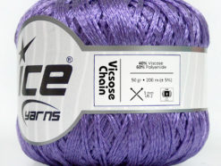 Lot of 6 Skeins Ice Yarns VISCOSE CHAIN (40% Viscose) Yarn Lavender